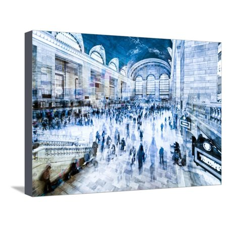 Grand Central Terminal Manhattan (Urban Vibrations Series, Fine Art, Grand Central Terminal, Manhattan, New York City, United States Stretched Canvas Print Wall Art By Philippe Hugonnard )
