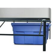 premier 14 high profile platform metal base foundation bed frame with under bed storage - Foundation Bed Frame