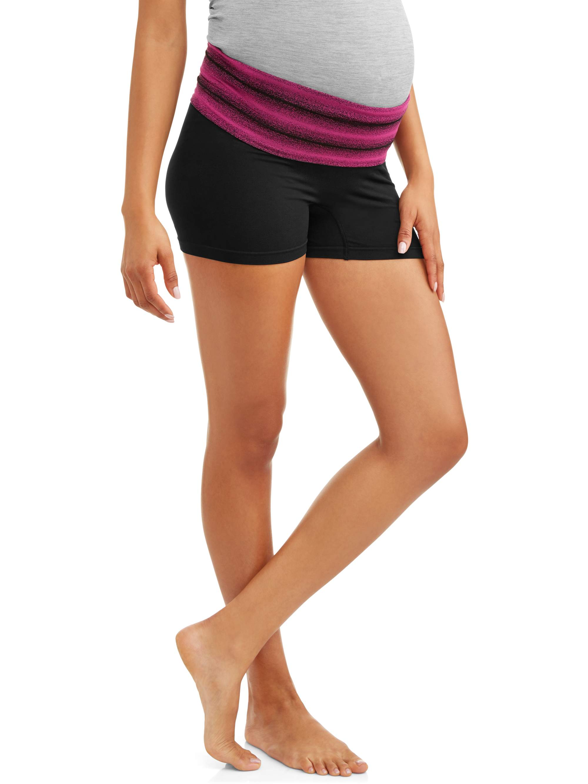 Dynabelly Maternity Seamless Yoga Activewear Over Or Under Belly Short by Dynashape