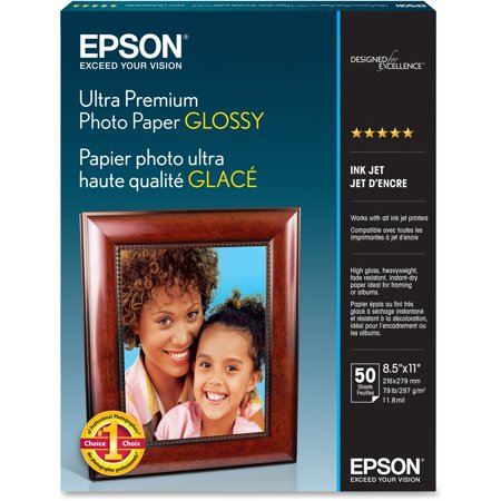 - Epson, EPSS042175, Ultra-premium Glossy Photo Paper, 50 / Each, Bright White