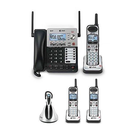19cf00e021e ATT SB67138 and 2-SB67108 and 1-TL7800 4 Handset Corded-Cordless Phone 4  Line - Walmart.com