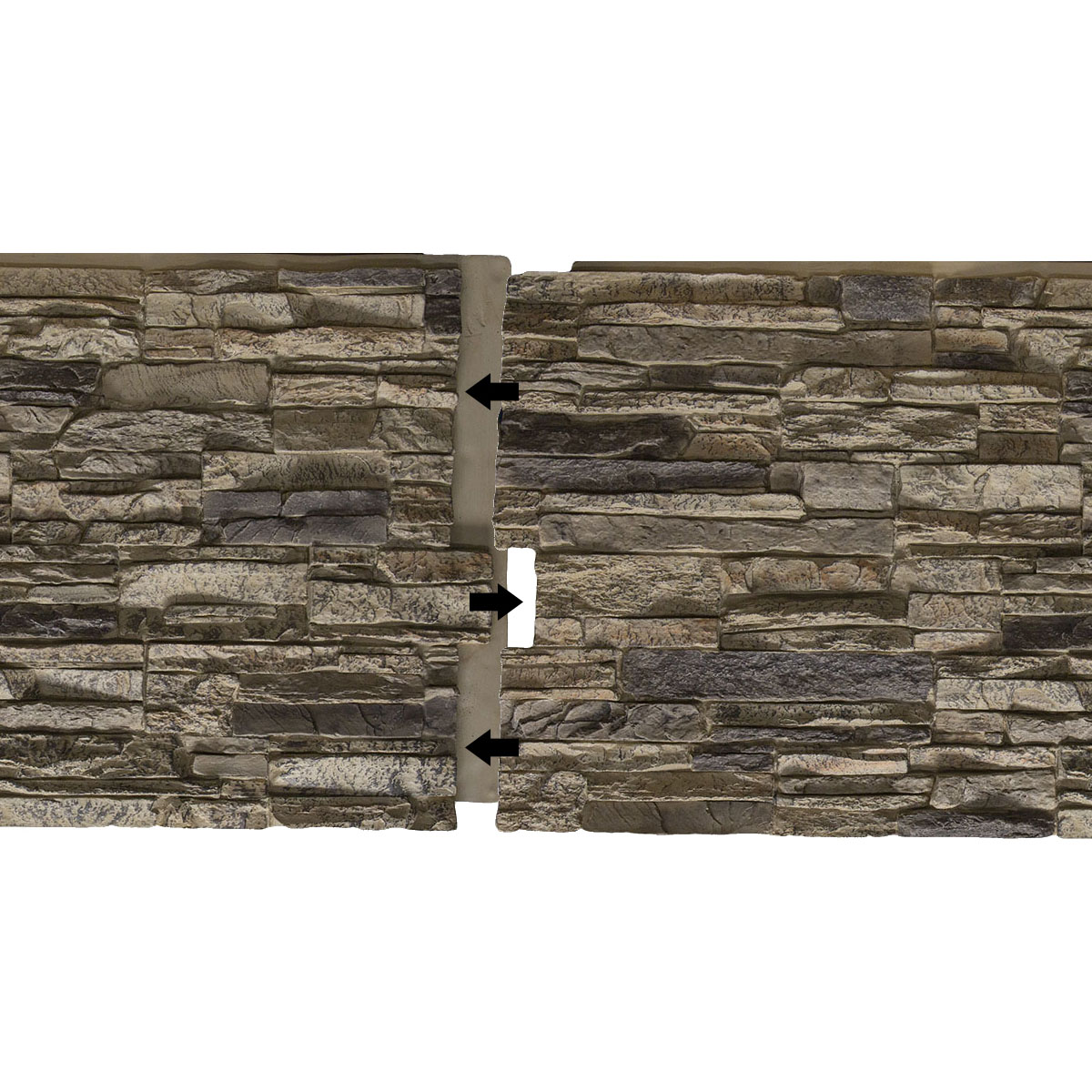 Universal Inside Corner for StoneWall Faux Stone Siding