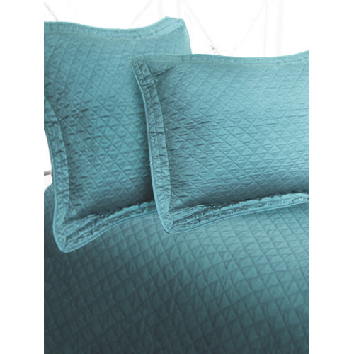 Textiles Plus Inc. Luxury Cotton Sateen Diamond Coverlet