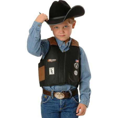 M&F Western Kids' Bigtime Rodeo Bull Rider Play Vest (Black, Large)](Kids Western Wear)