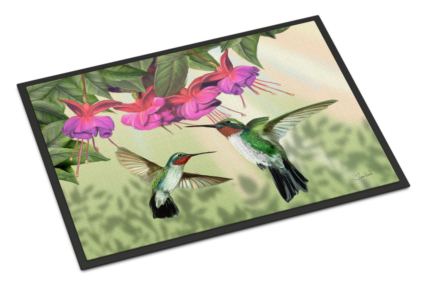 Fuchsia and Hummingbirds Doormat by Caroline's Treasures