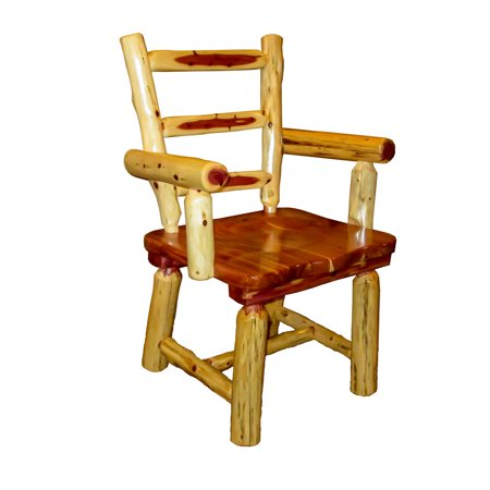 Furniture Barn USA™ Rustic Red Cedar Log Captain's Chairs - Set of 2