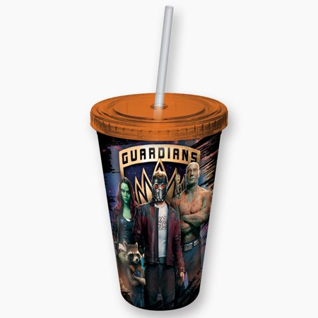 Plastic Mug - Guardians of the Galaxy - Space Guardians Cup w/Straw New - Galaxy Cup