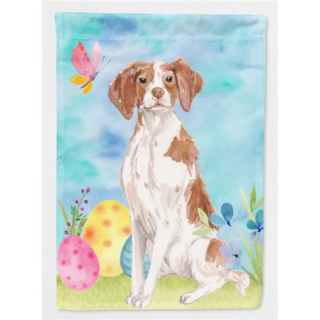 Carolines Treasures BB9609CHF Brittany Spaniel Easter Flag Canvas - House Size - image 1 de 1