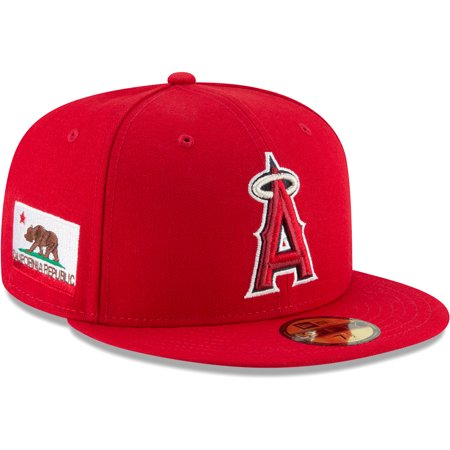 2f4923372 Los Angeles Angels New Era Team Local 59FIFTY Fitted Hat - Red