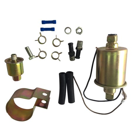 Zimtown Universal Gas Electric Fuel Pump with Installation Kit 12V 5-9 PSI