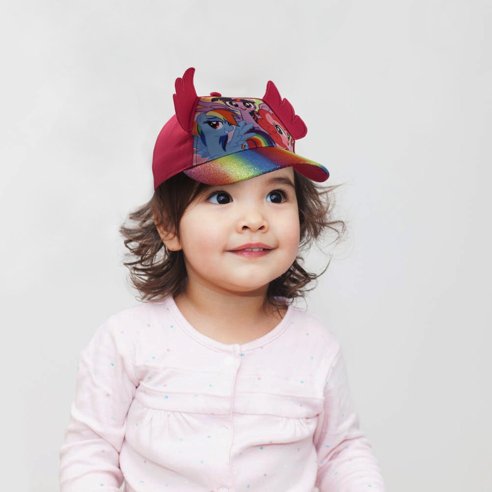 Hasbro Kids baseball Hat for Girls Ages 2-7 My Little Pony cap 3D Design