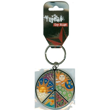 - Dan Morris - #1 Exceptionally Designed World Famous Celestial PEACE Keychain - Unique High Quality Metal Key Ring - 2
