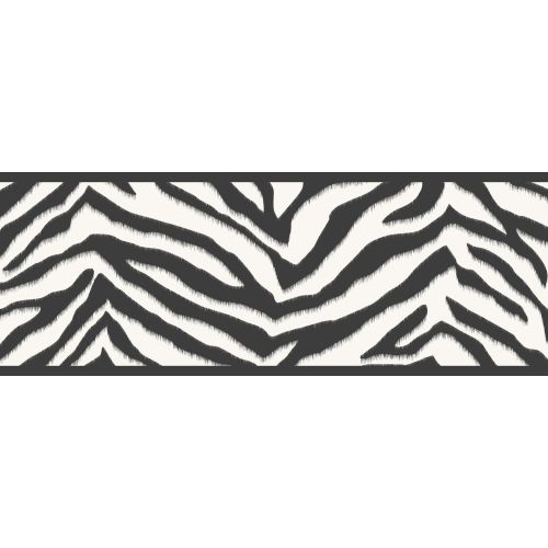 Brewster TOT46421B Mia Black Faux Zebra Stripes Border Wallpaper