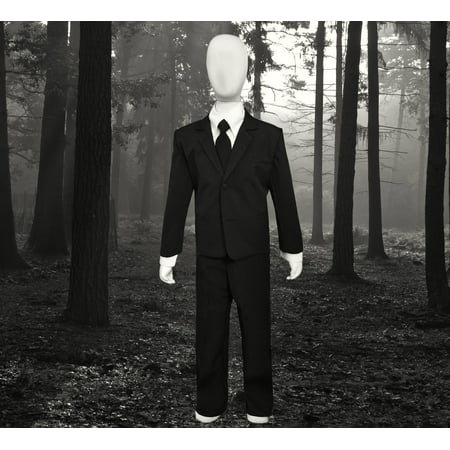 Kids Slenderman Agent Black Suit Outfit Costume Only. Mask not included.