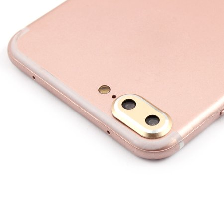 Metal Camera Lens Protective Ring Cover Protector Gold Tone for iPhone 7 Plus - image 1 de 1
