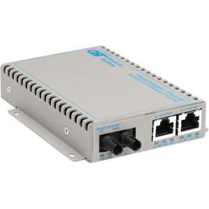 Omnitron Systems OmniConverter SE 10/100 PoE Fast Ethernet Fiber Media Converter Switch RJ45 ST Single-Mode 30km - 2 x 10/100BASE-TX, 1 x 100BASE-LX, US AC Powered, Lifetime Warranty, US Made OMN