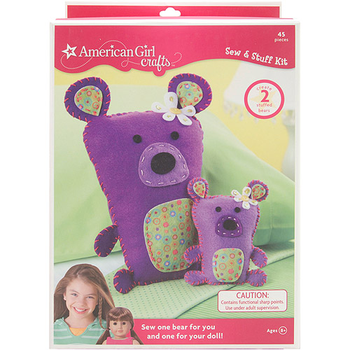 American Girl Crafts Purple Bears Sew & Stuff Kit Makes 2 Stuffed Bears by Generic