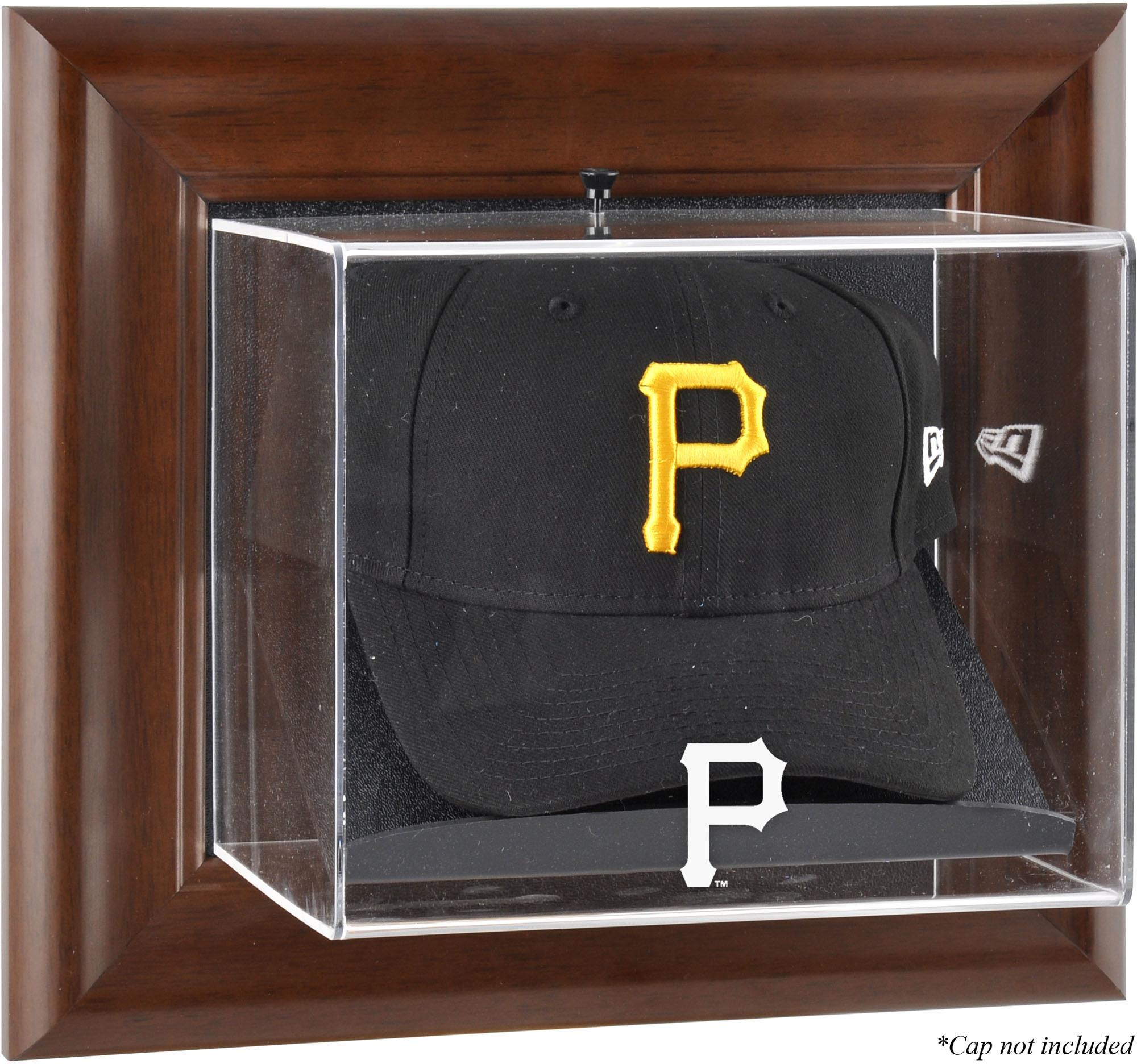 Pittsburgh Pirates (2014-Present) Brown Framed Wall-Mounted Logo Cap Case