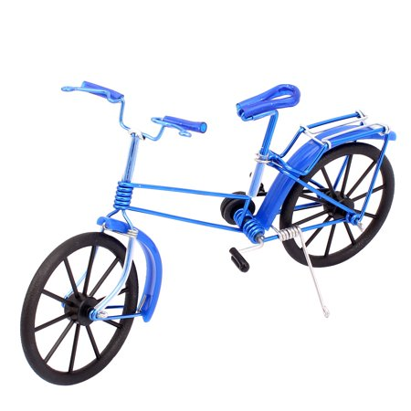 (Unique Bargains Handmade Metal Wire Road Bike Bicycle Model Gift Art Decoration Blue)