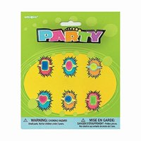 plastic girl's ring party favors, assorted 6ct