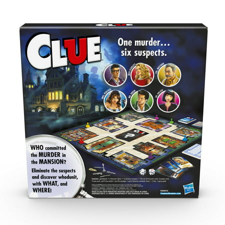 Only At Walmart: Clue Board Game, Includes Activity Sheet
