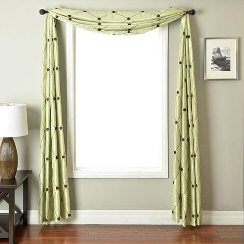 Softline Home Fashions Millau 6 Yard Rod Pocket Single Window Scarf