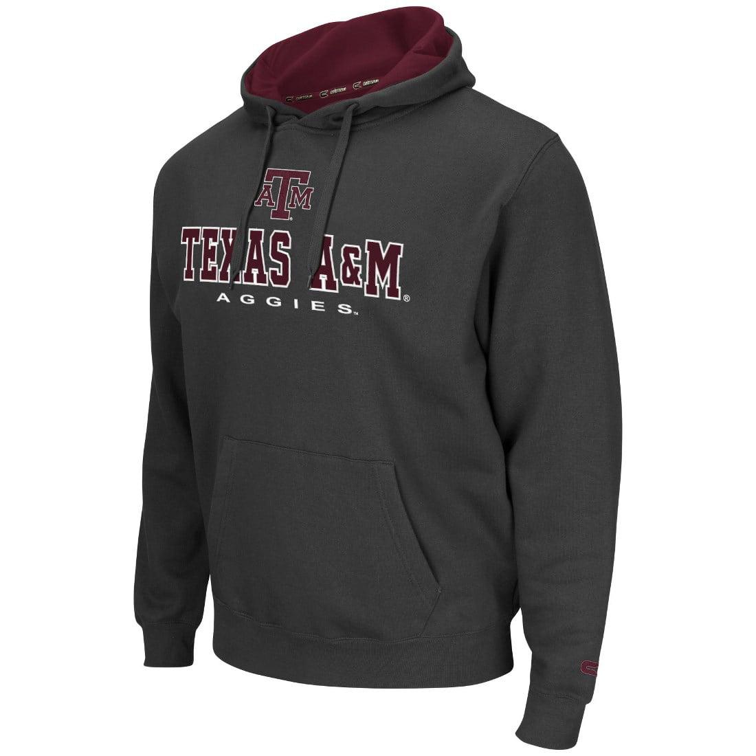 "Texas A&M Aggies NCAA ""Zone II"" Pullover Hooded Men's Sweatshirt - Charcoal"