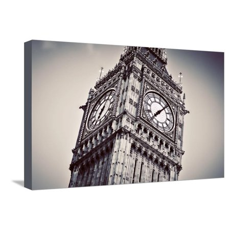 Big Ben, the Bell of the Clock close Up. the Famous Icon of London, England, the Uk. Black and Whit Stretched Canvas Print Wall Art By Michal Bednarek Big Ben Clock Bell