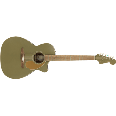 Fender Newporter Player Electric Acoustic Guitar in Olive Satin - DEMO Electric Guitar Player