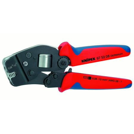 KNIPEX Tools 97 53 08 Self-Adjusting Crimping Pliers for End Sleeves