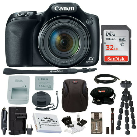 Canon Powershot SX530 HS Camera with 32GB Deluxe Accessory (Canon Powershot A590 Accessories)