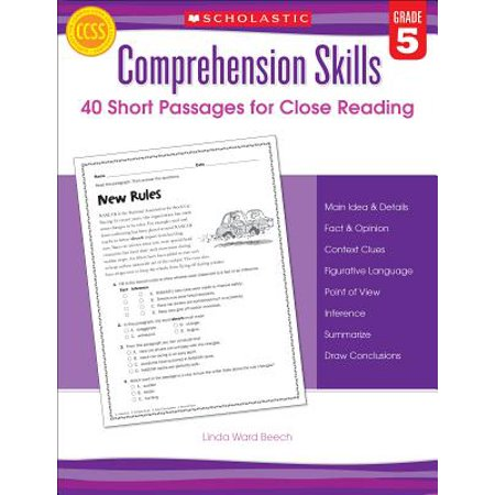 Comprehension Skills: Short Passages for Close Reading: Grade 5 - Reading Comprehension 3rd Grade