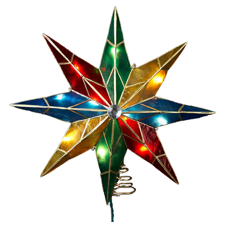 """Kurt Adler 14"""" 8-Point Star with Center Gem Treetop"""