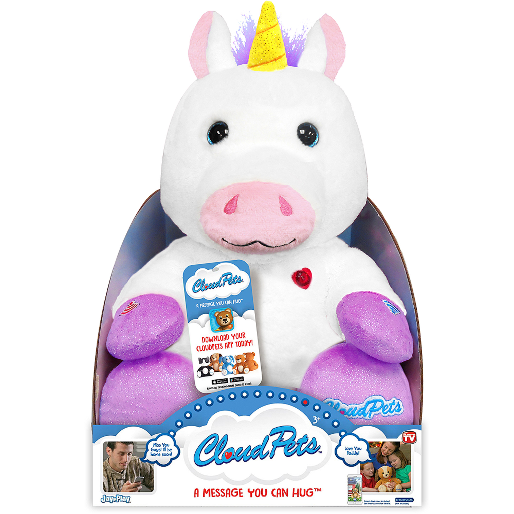 "As Seen on TV Cloud Pets 12"" Unicorn"