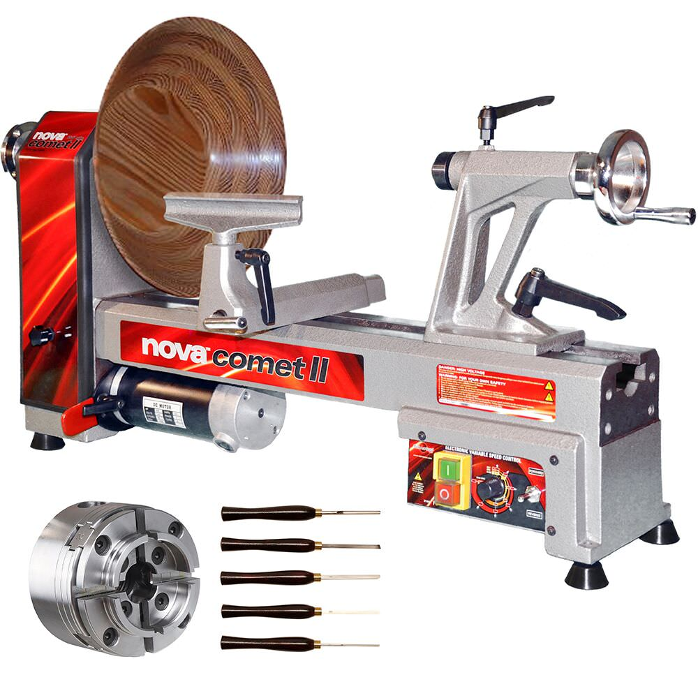 Nova Comet II Bench Wood Lathe Bundle