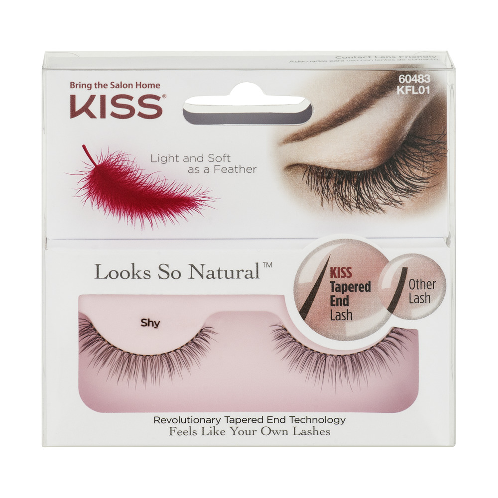 Kiss Looks So Natural Eyelashes 60483 Shy 1 Pr - Walmart.com