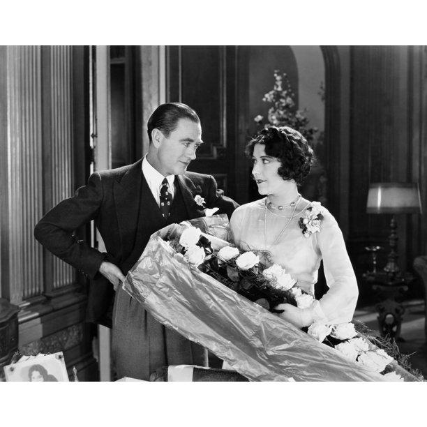 Silent Film Still Woman By Granger: Silent Film Still: Couples. /Nowen Moore And Aileen