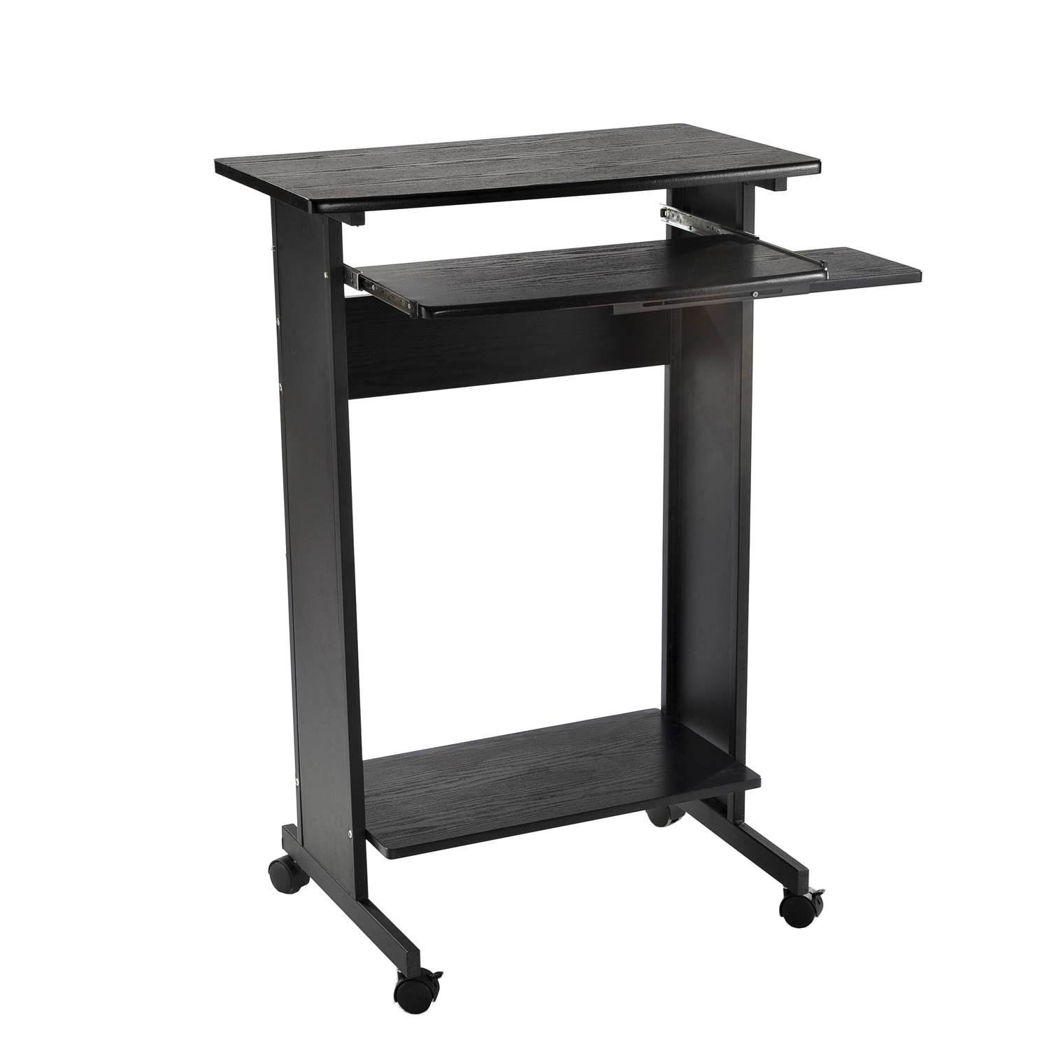 HomCom 30 Portable Standing Workstation Computer Desk Walmartcom