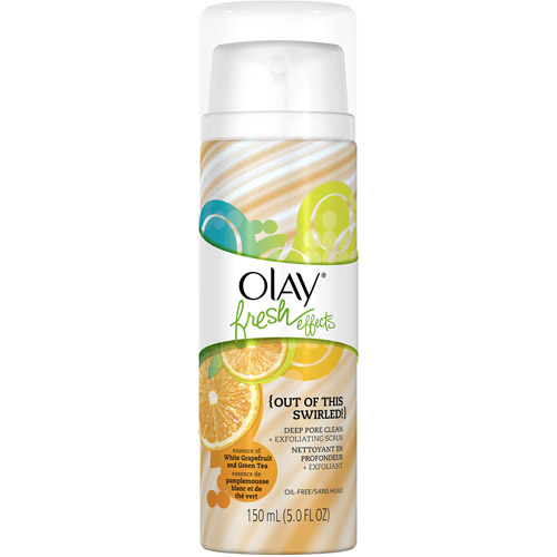 Olay Fresh Effects Out of This Swirled! Deep Pore Facial Cleanser Plus Exfoliating Scrub, White Grapefruit and Green Tea, 5 fl oz