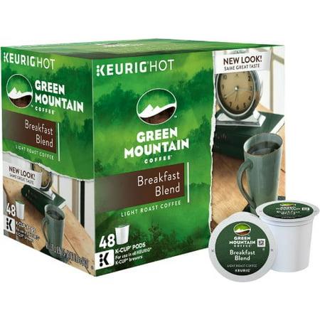 Green Mountain Coffee Breakfast Blend Single-Serve Keurig K-Cup Pods, Light Roast Coffee, 48ct
