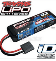 Traxxas 2843X 2S 7.4V 5800mAh 25C LiPo Battery iD Connector : Stampede