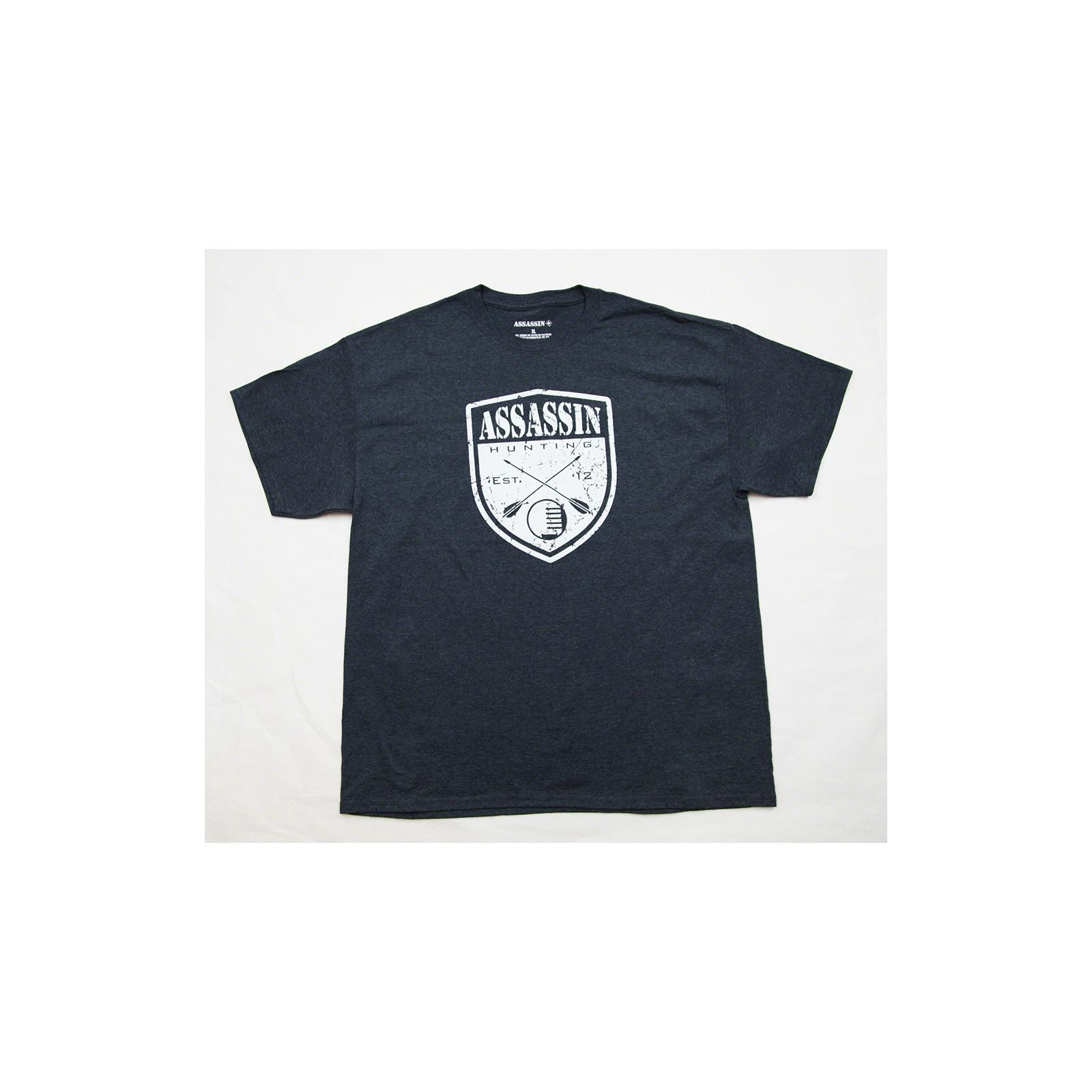 Assassin Fishing T-Shirt Charcoal Archery Shield-M, MTCHLARCHSHIELD-M