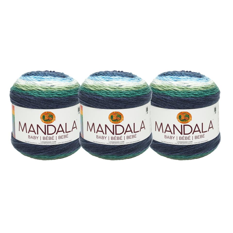 Lion Brand Yarn 526-205AW Mandala Baby Echo Caves 3 Pack Fashion Yarn