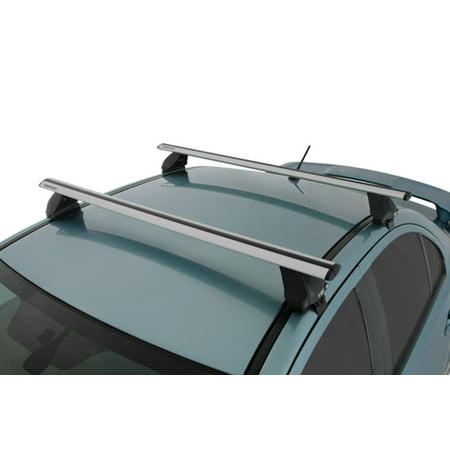 rhino rack 2014 2016 kia forte 4dr sedan 2500 multi fit aero roof rack system silver va118s. Black Bedroom Furniture Sets. Home Design Ideas