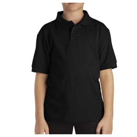 Genuine Dickies Boys School Uniform Short Sleeve Pique Polo (Little