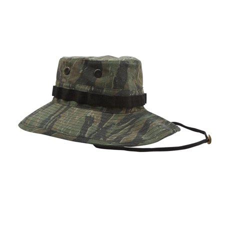 Authentic Replica Vietnam Era Boonie Hat, Tiger Stripe (Tiger Stripe Camo Boonie Hat)