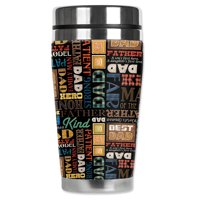 """Mugzie brand 20-Ounce """"MAX"""" Stainless Steel Travel Mug with Insulated Wetsuit Cover - Dad's & Fathers"""