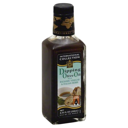 International Collection Dipping Olive Oil with Balsamic Vinegar & Italian Herbs, 8.45 OZ (Pack of