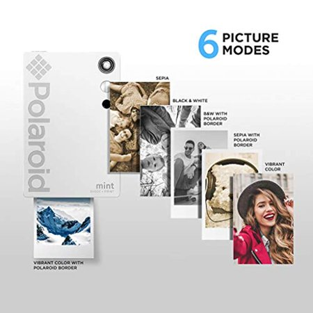 Polaroid Mint Instant Digital Camera (White) All-in-Bundle + Paper (20 Sheets) + Deluxe Pouch + Photo Album + 9 Unique Sticker Sets + Markers + Scissors + Border Stickers and So Much More - image 3 of 7