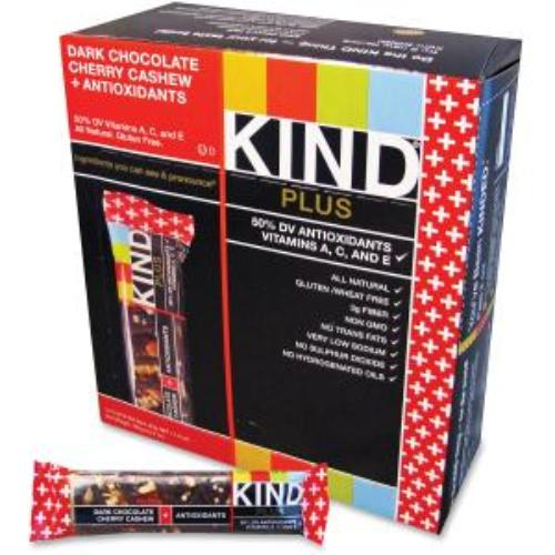 Kind Snack Bars - Cholesterol-free, Non-gmo, Gluten-free, Individually Wrapped - Dark Chocolate, Cashew, Cherry - 1.40 Oz - 12 / Box (knd-17250)